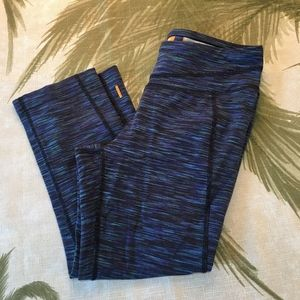 Lucy Hatha Collection Blue Leggings Size S